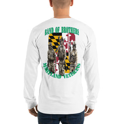 Long sleeve t-shirt Band of Brothers Maryland Veterans (back side print)