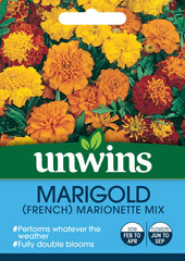 Unwins Marigold French Marionette Mix