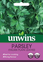 Unwins Herb Parsley Italian Plain Leaved