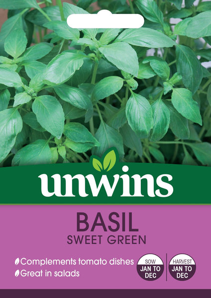 Unwins Herb Basil Sweet Green