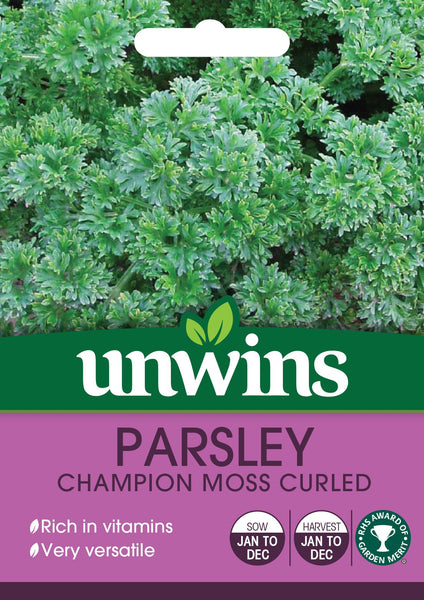 Unwins Herb Parsley Champion Moss Curled