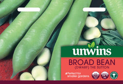 Unwins Broad Bean (Dwarf) The Sutton