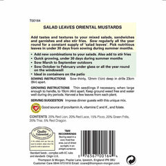 Salad Leaves - Oriental Mustards