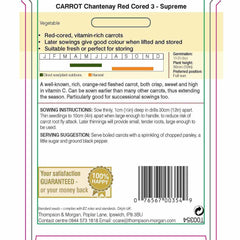 Carrot Chantenay Red Cored 3 - Supreme