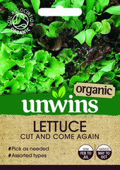 Unwins Lettuce (Leaves) Cut And Come Again (Organic)