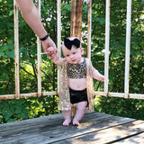 Leopard Criss Cross Bralette- Children's