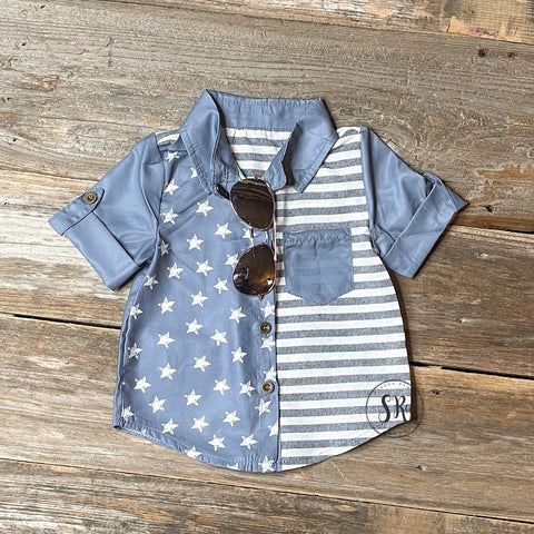 Patriotic Button Up