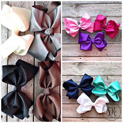 Texas Size Grosgrain Hair Bows