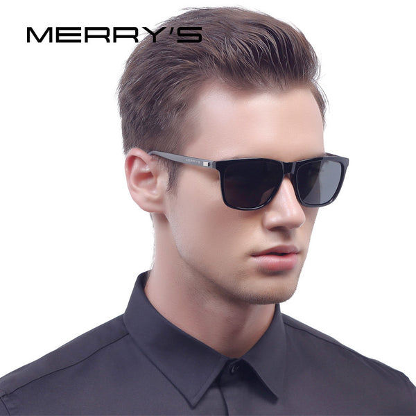 MERRY'S Fashion Retro Aluminum Sunglasses Polarized Lens