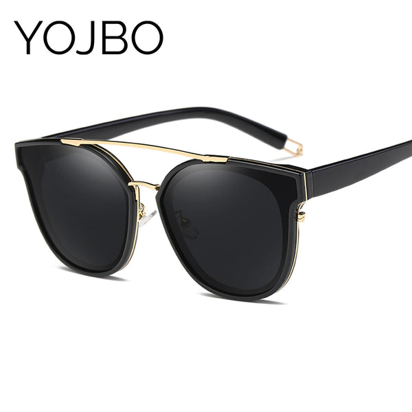 YOJBO Oversized Polarized Mirror Sunglasses