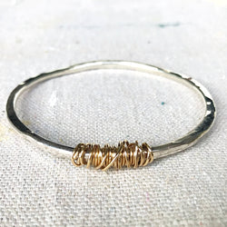 Twisted Betty Bangle Sterling