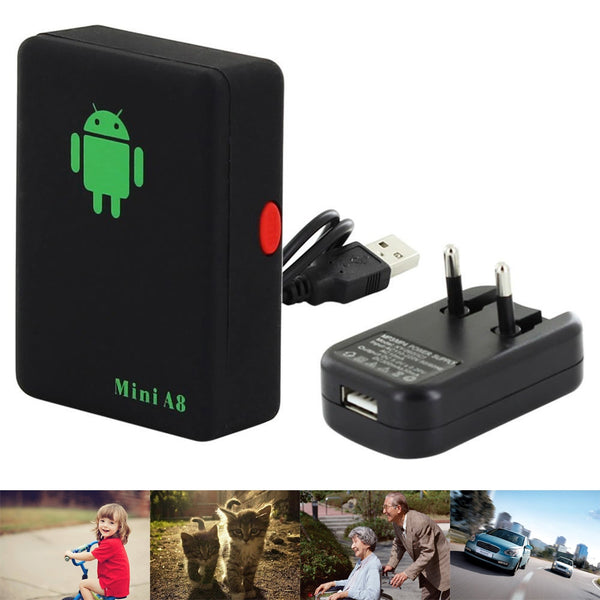 MobilityStuff A8 Mini GSM/GPRS Tracker Global Real Time With SOS Button for Elderly, Kids, Pets and Cars