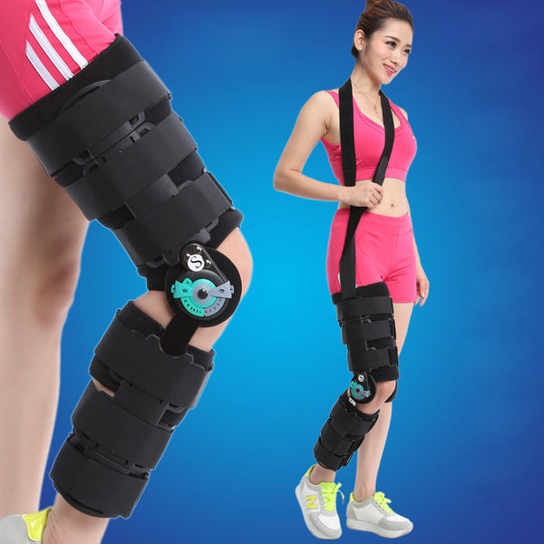 Medical Knee Joint Fixing Brace Fit for Knee or Leg Fractures, Ligament Injury and Provide Support for Rehabilitation Exercises