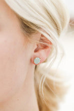 Load image into Gallery viewer, Amazonite Gemstone Prong Earrings