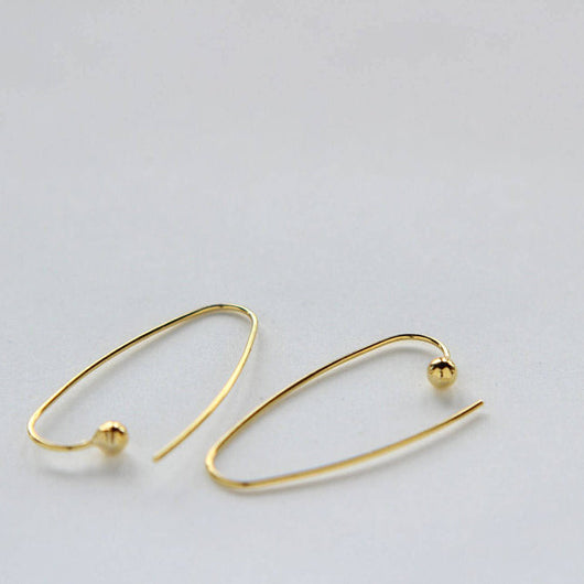 Dangly Earrings Simple Gold Plated