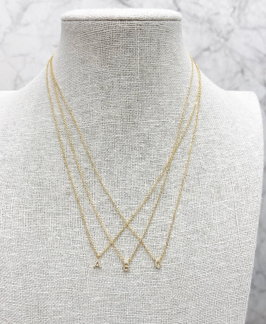 Sparkle Dainty Initial Necklace -