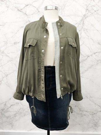 Tori Military Jacket in Olive - FINAL SALE
