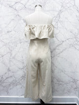 Mykenna Off-Shoulder Jumpsuit in Ivory