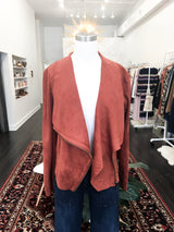 Maxwell Jacket in Rust Faux Suede
