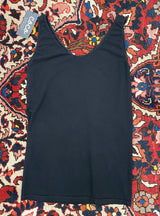 Reversible Neckline Tank in Black