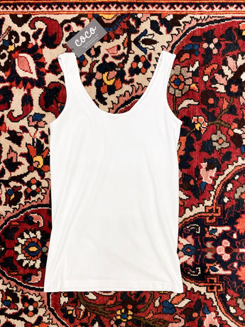 Reversible Neckline Tank in White