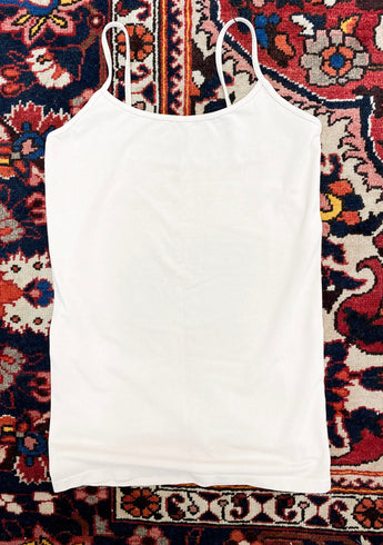 Full-Figured Cami Top in Off-White
