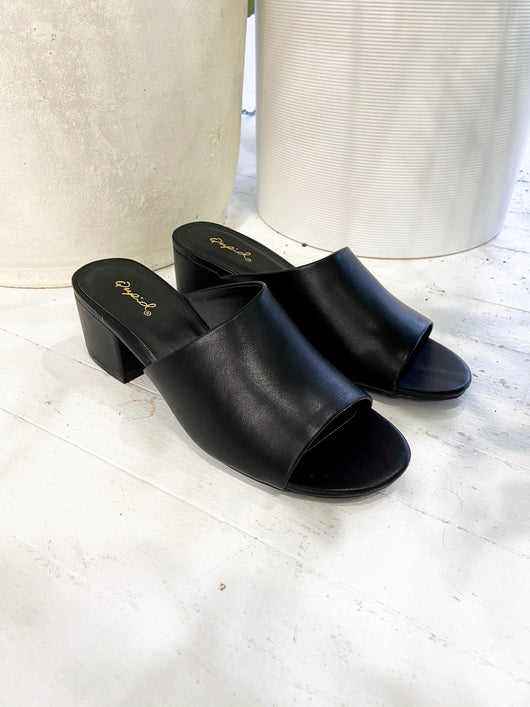 Rosalind Slide Sandals in Black