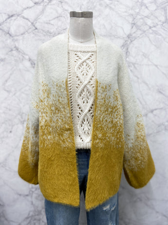 Maurissa Cardigan in Mustard Ombre