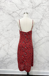 Carie Slip Dress in Red Leopard
