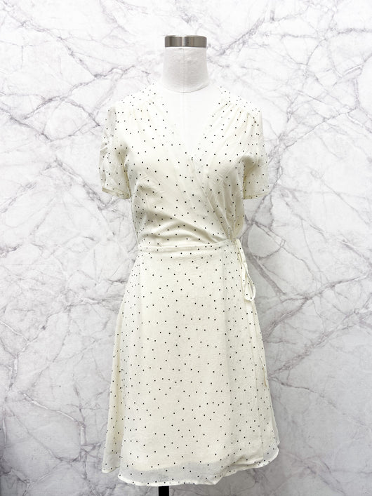 Reina Dress in Cream Dots