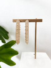 Load image into Gallery viewer, Camille Studded Hoop Earrings in Cappuccino