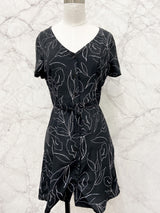 Tomi Dress in Black Print