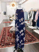Burnout Dress in Navy Floral