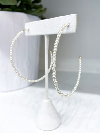 Alexa Stanley Hoops in Pearls