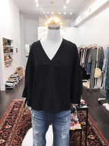 Boxy Blouse in Black