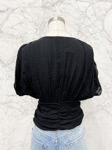 Hilda Cinched Top in Black