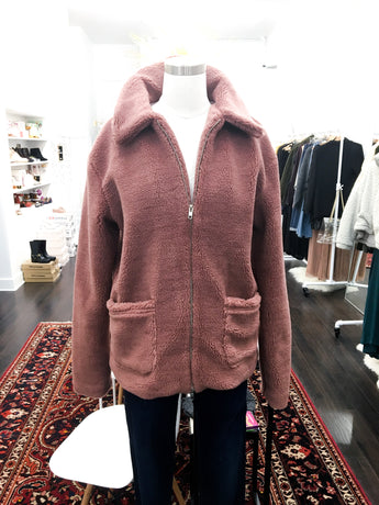 Daisy Coat in Mauve