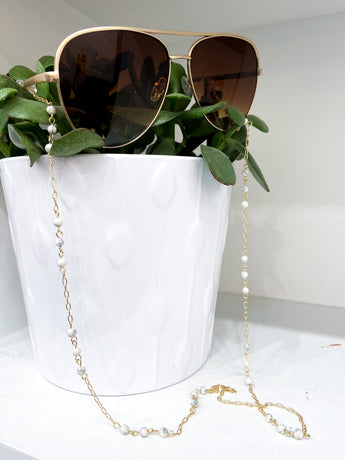Link Ball Sunglasses Chain in Gold