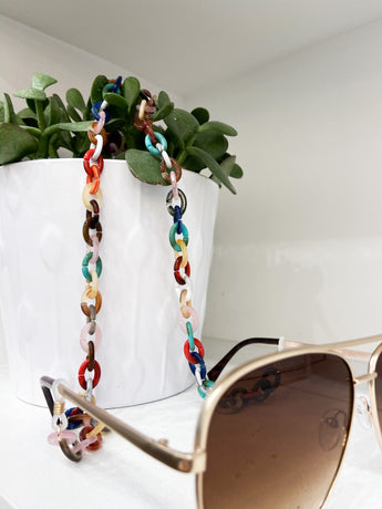 Multi Colored Sunglass Chain