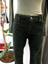 Corduroy Skinnies in Pine Green