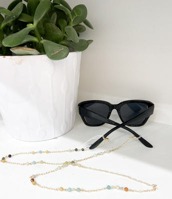 Link Ball Sunglasses Chain in Earth Tones