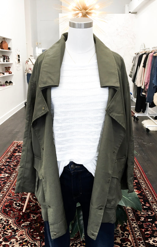 Kristen Military Jacket in Olive