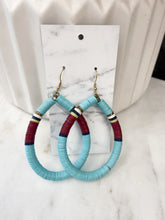 Load image into Gallery viewer, Coraline Turquoise Teardrop Hoops