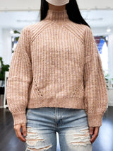 Griffon Puff Sleeve Sweater in Pink