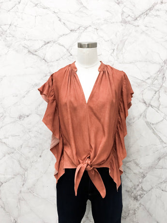 Jerry Blouse in Rust