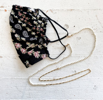 Betsy Sunglasses / Mask Chain in Dainty Pearls
