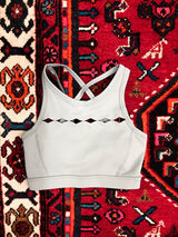 Rhombus Sports Bra in Seafoam
