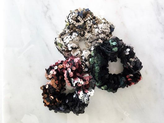 Lucky Scrunchie in Sequins