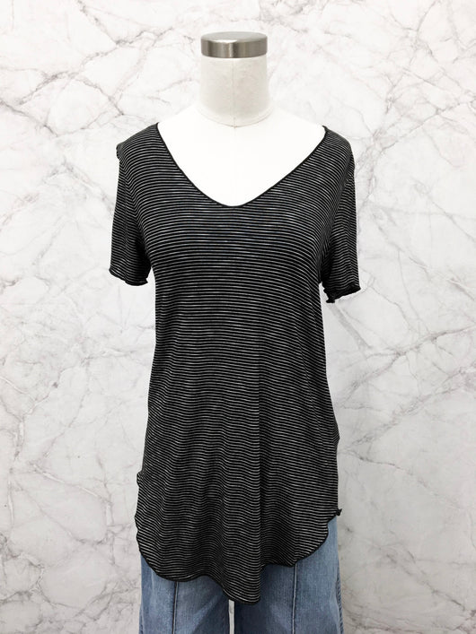 Everyday Short Sleeve Tee in Black Stripe