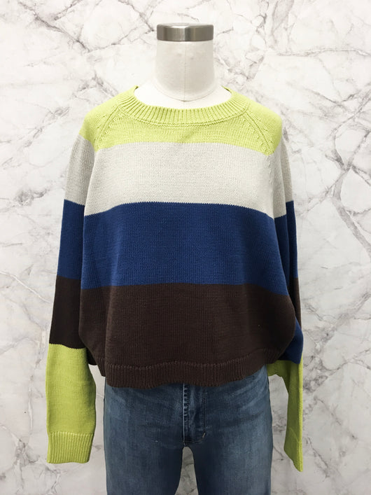 Tessie Color Block Cropped Sweater